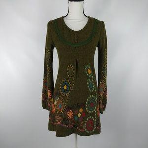 Anthropologie Hazel Dress Art to Wear Long Sleeve